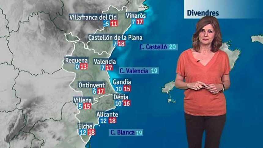 El tiempo en la Comunidad Valenciana  - 27/04/17