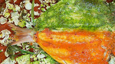 Torres en la cocina - Pescado a la espalda a los dos mojos