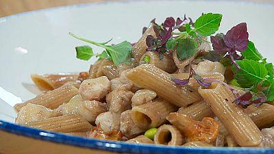 Torres en la cocina - Macarrones con salsa de congrio