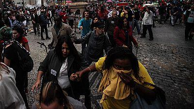 La huelga general en Brasil acabó con disturbios aislados