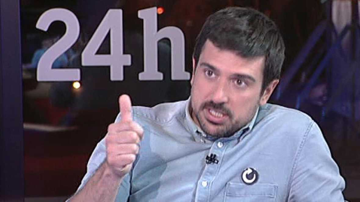 Ramón Espinar (Podemos): ¿La corrupción significa 70.000 enfermos en lista de espera en los hospitales de Madrid¿.