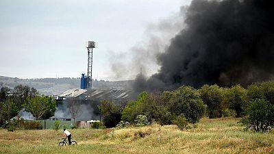 Quince heridos en varias explosiones en una nave de reciclaje en Arganda, Madrid
