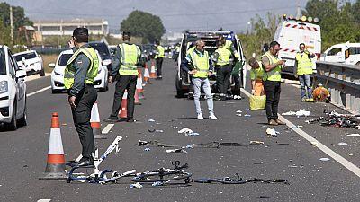 Dos ciclistas muertos y tres heridos graves al ser atropellados por una conductora en Oliva