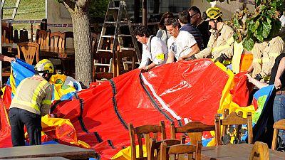 Muere una menor y otros seis resultan heridos mientras jugaban en un castillo hinchable en Girona