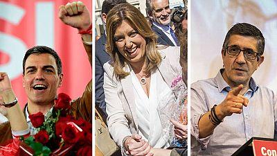 El PSOE proclama oficialmente a Susana Díaz, Pedro Sánchez y Patxi López como candidatos a liderar el partido