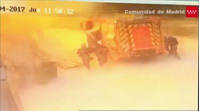 Así fue la segunda explosión de la planta de residuos de Arganda del Rey