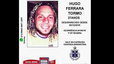 En Brasil  la policía ha hallado el cadáver de un turista español desaparecido en aquel país hace más de dos años