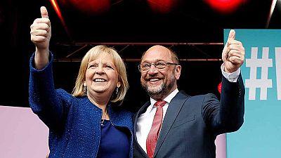 Merkel y Schulz prueban sus fuerzas en Renania del Norte-Westfalia antes de las generales