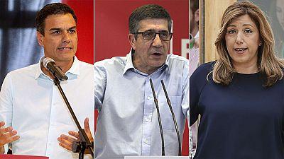 Los aspirantes a liderar el PSOE enfrentan sus proyectos en el debate de este lunes en Ferraz