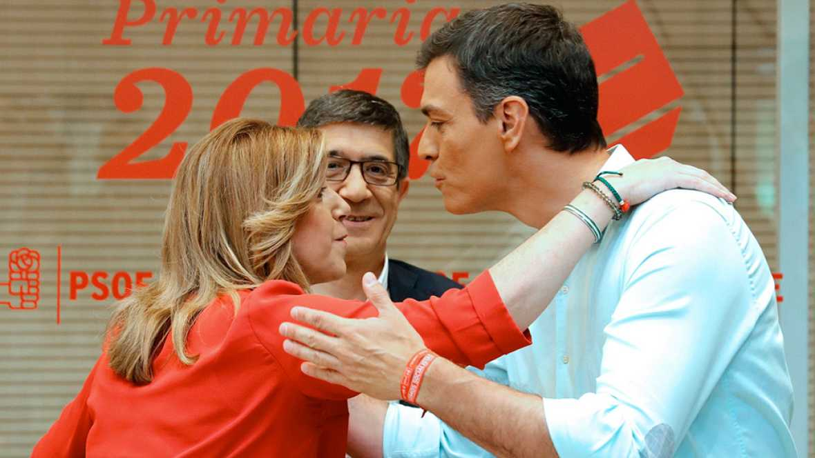 Los tres candidatos a las primarias del PSOE debaten antes de que los militantes acudan domingo a las urnas
