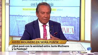"""Hora Punta - Justo Molinero: """"No me gusta la actitud que está teniendo Isabel Pantoja. Creo que no actúa bien con la gente"""""""