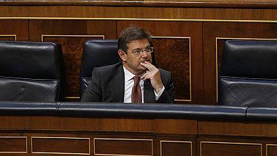 La oposición vota a favor de la reprobación del ministro de Justicia y de la destitución del fiscal general del Estado y el fiscal Anticorrupción