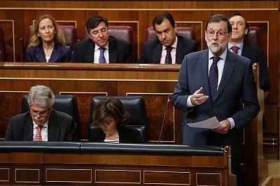Rajoy reitera en el Congreso su apoyo al ministro de Justicia y a la cúpula fiscal