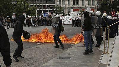 Grecia vive su primera huelga general del año