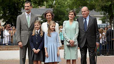 La Infanta Sofía ha recibido la primera comunión en una Iglesia de Madrid