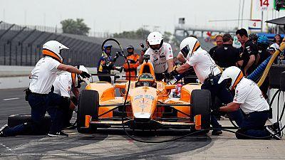 Fernando Alonso continúa su preparación para las 500 millas de Indianápolis y este miércoles firmó el cuarto mejor tiempo de los entrenamientos libres.