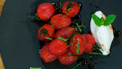 Torres en la cocina - Tomates a la vainilla