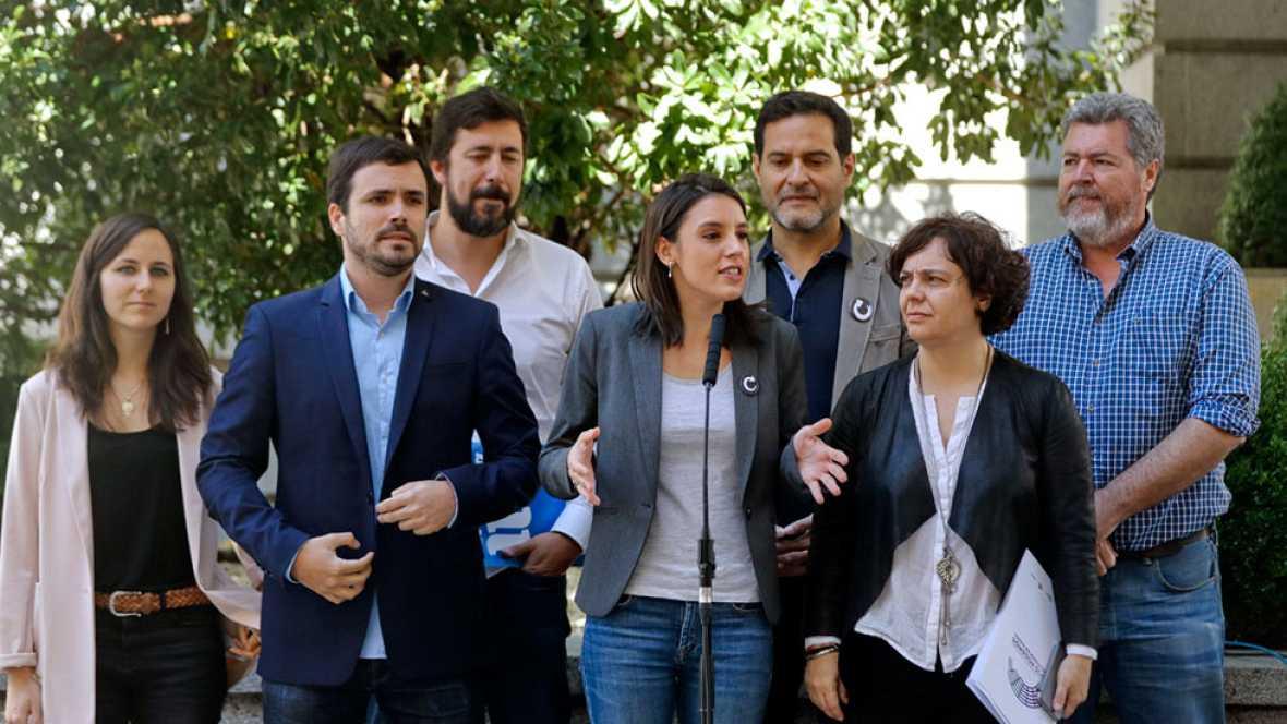 Podemos presenta la moción de censura contra el Gobierno del PP