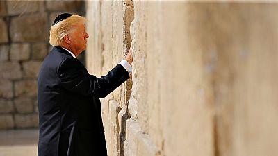 Trump visita el Muro de las Lamentaciones a su llegada a Israel
