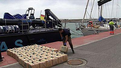 Incautado en el mar de Alborán uno de los mayores alijos de hachís de los últimos años