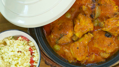 Torres en la cocina - Tajine de pollo con aceitunas