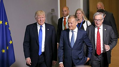 Donald Trump se reúne con los líderes europeos en Bruselas