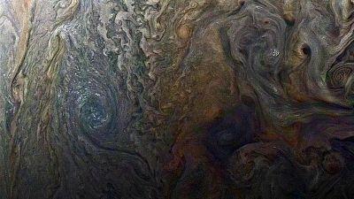 La 'cara oculta' de Júpiter está llena de tormentas gigantescas
