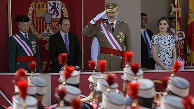 Los reyes Felipe y Letizia presiden el acto central del Día de las Fuerzas Armadas