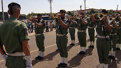 Preparativos al desfile del Día de las Fuerzas Armadas