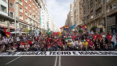 Las marchas de la dignidad han vuelto a manifestarse esta tarde en Madrid