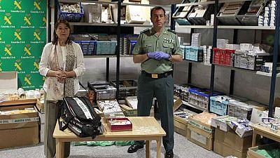 LA Guardia Civil asesta el mayor golpe en Europa contra una red de tráfico de anabolizantes