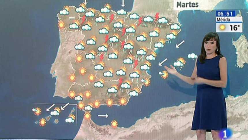 Tormentas generalizadas con incremento de temperaturas