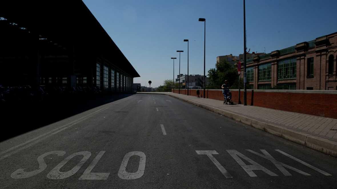 """Paros en el sector del taxi contra la """"competencia desleal"""" de Uber y Cabify"""