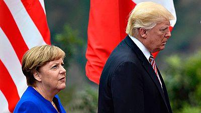 Cruce de reproches entre Trump y Merkel