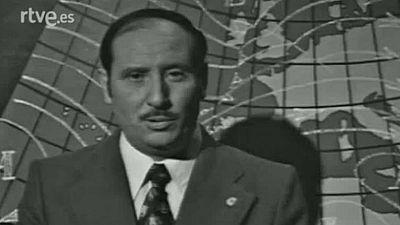 Fernando Medina da el pronóstico del tiempo en el telediario