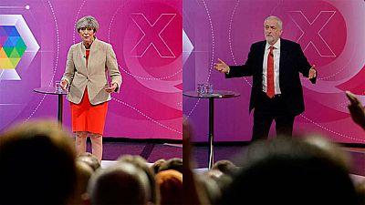 May y Corbyn contraponen su visión del 'Brexit' y sus programas sociales en un nuevo 'debate indirecto'