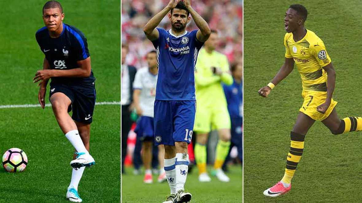 Se acabó la temporada y los clubes ya sondean el mercado en busca de fichajes. Para el Madrid suenan Mbappé y Hazard; para el Barça Dembelé y Bellerín; y el Atlético busca reforzar su ataque con Sandro o Diego Costa.