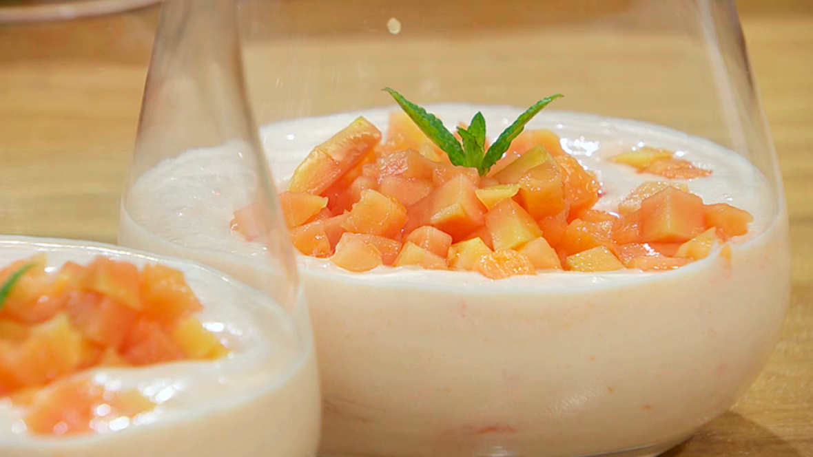 Torres en la cocina - Mousse de papaya