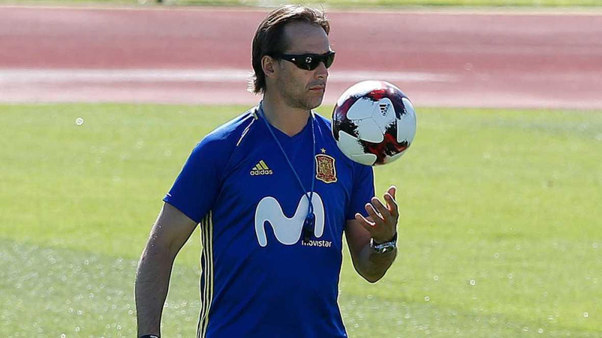 """Lopetegui: """"Piqué y Ramos defienden con vehemencia a la selección española"""""""