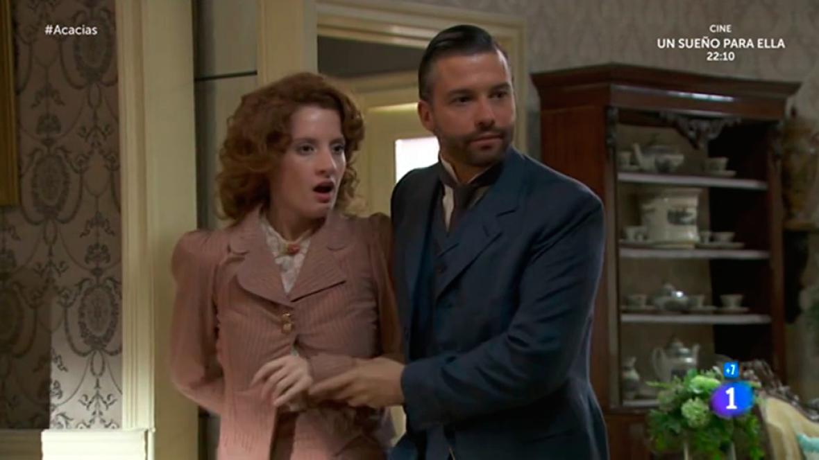 Acacias 38 - Celia y Felipe sorprenden a Rosina y Liberto