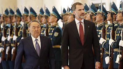 El rey Felipe destaca las buenas relaciones entre España y Kazajistán