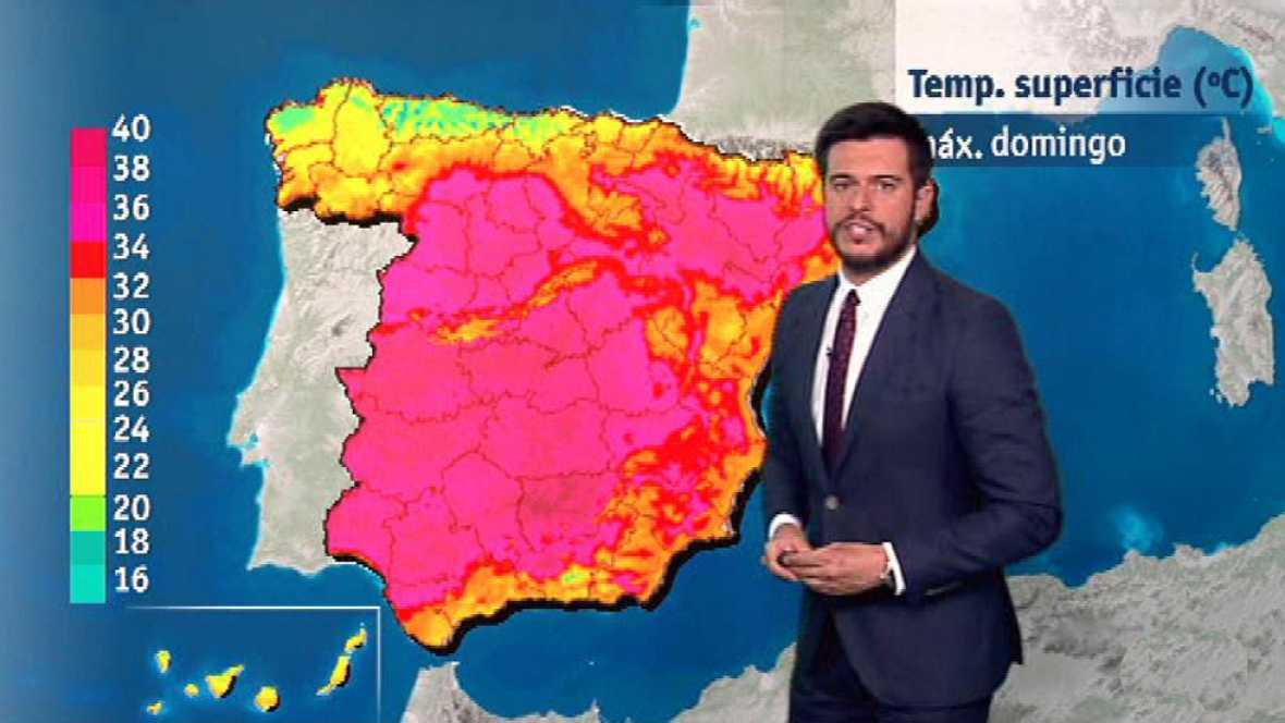 Las temperaturas serán hoy muy altas en el interior peninsular, con posibles lluvias en Galicia