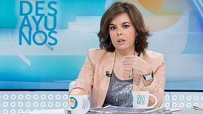 """Sáenz de Santamaría: """"El Gobierno está preparado por si hay que intervenir en la moción de censura"""""""