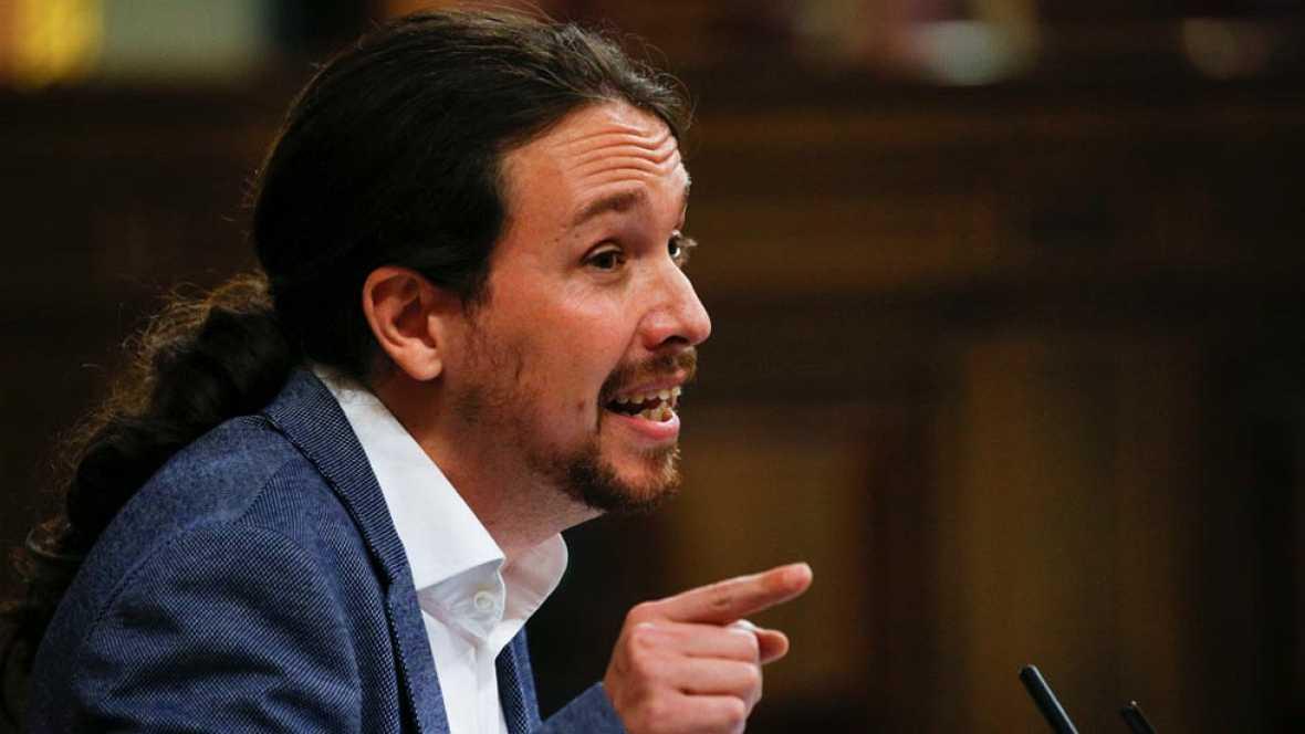 Pablo Iglesias, candidato alternativo a la Presidencia del Gobierno en la moción de censura contra Mariano Rajoy, ha  tendido la mano a la colaboración política entre Podemos y el PSOE. El líder de la formación morada ha recordado la negociación fall