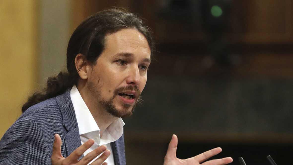 """Iglesias ofrece un pacto al PSOE sin Ciudadanos para echar a Rajoy, el """"presidente de la corrupción"""""""