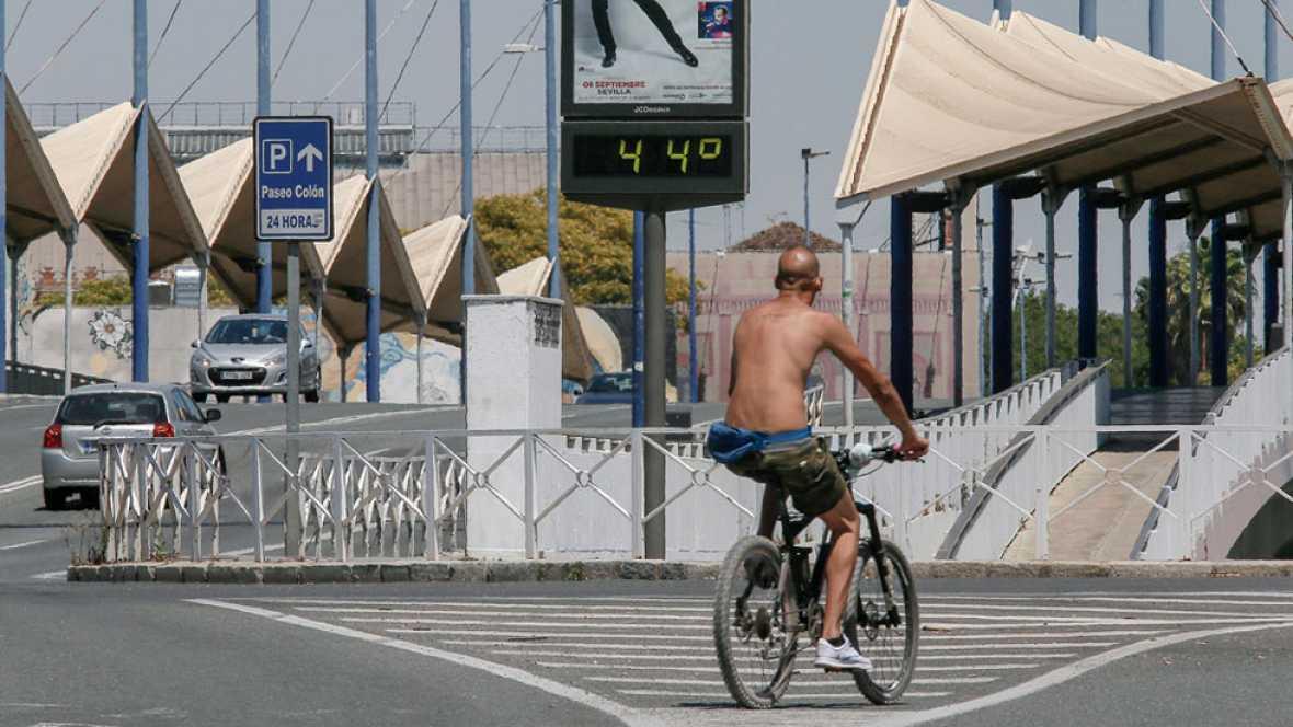 Las temperaturas serán muy altas en el interior peninsular y Baleares