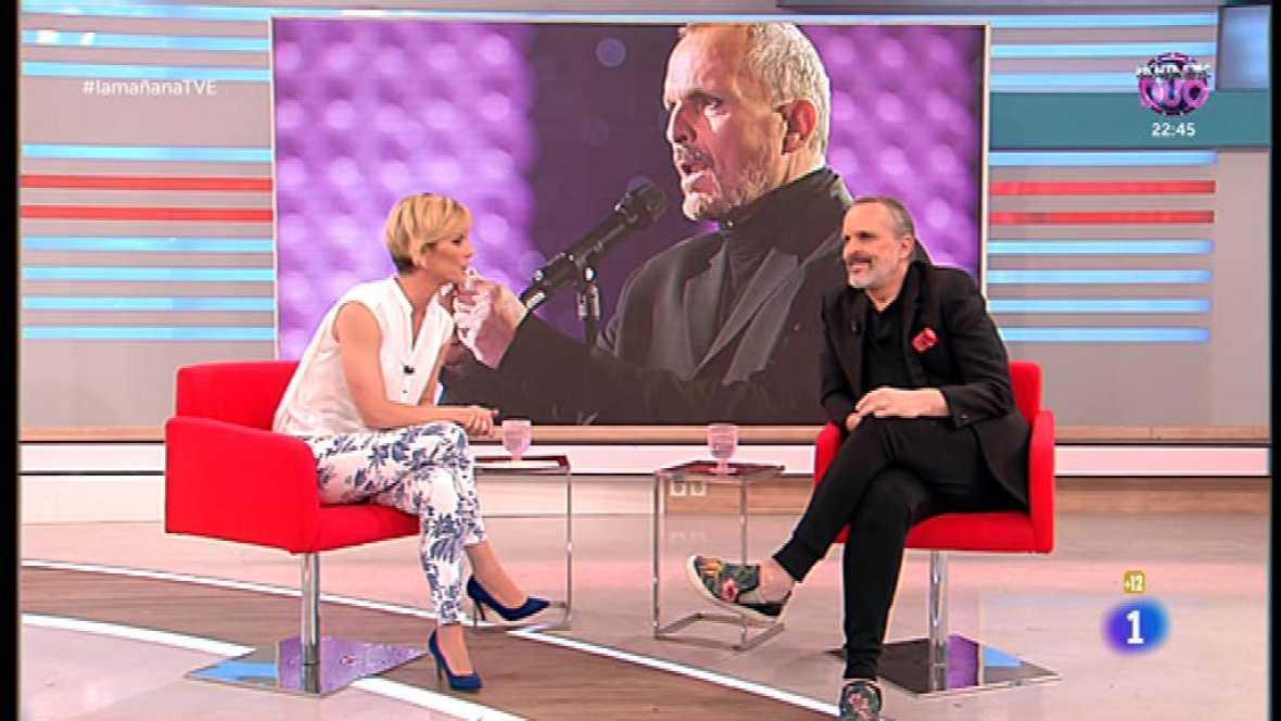 Miguel Bosé en 'La mañana'