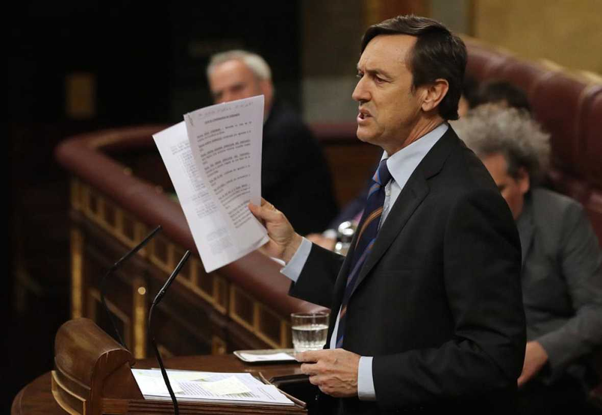 Rafael Hernando pregunta a Iglesias por su posición real respecto al desafío independentista