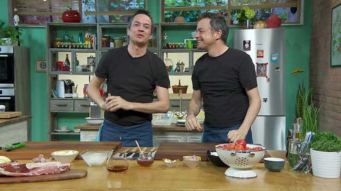 Torres en la cocina - Ensalada de endibias con costillas de cabrito y cake de limón - ver ahora