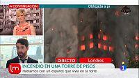 Un español residía en el edificio incendiado en Londres